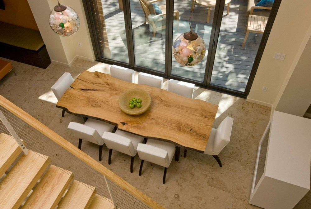 Natural Solid Wood Dining Table