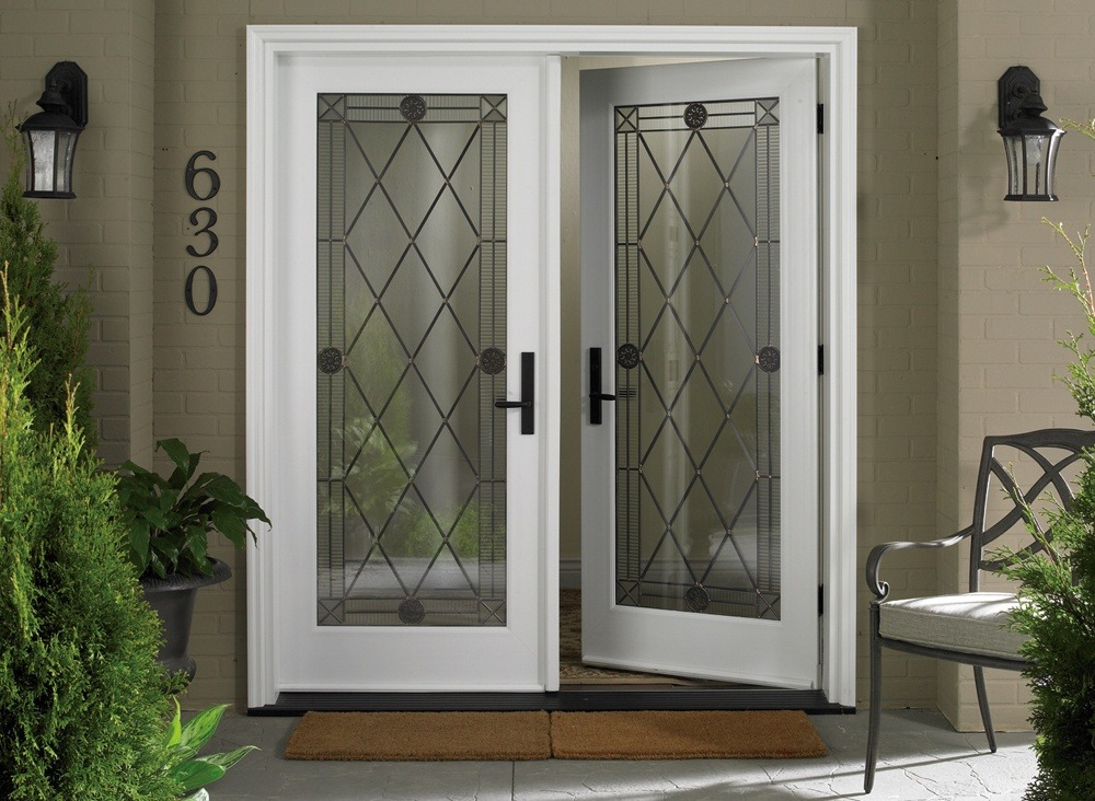 White Double Front Doors