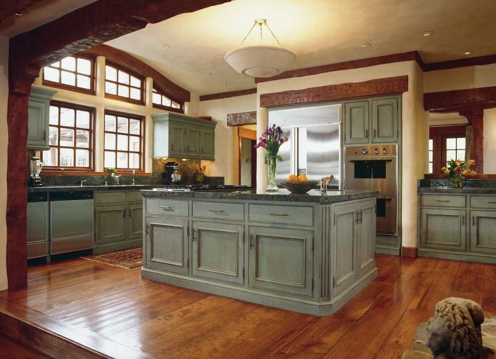 Grey Wood Kitchen Cabinets