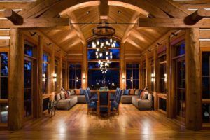 Exotic Turken Log Home Living Room
