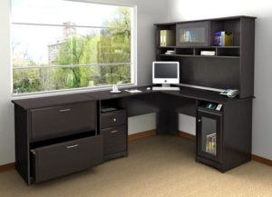 Fascinating Sectional Wood Corner Office Desk