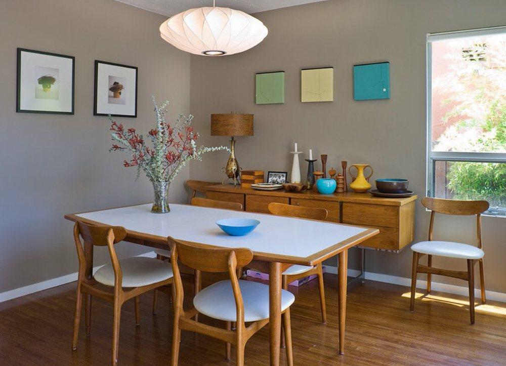 Mid Century Modern Dining Table Decor