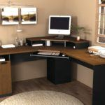 How to Save Space in Room with Corner Wood Desk