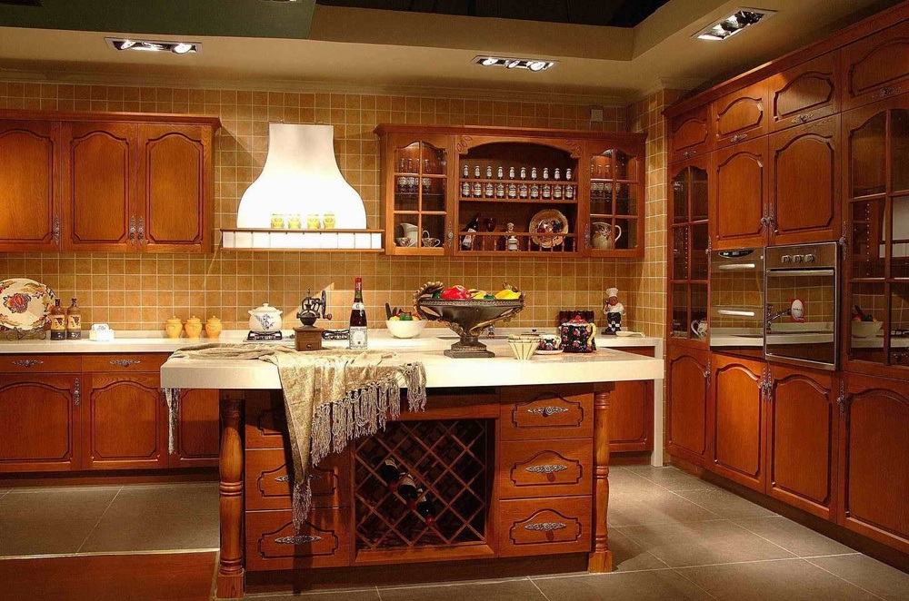 Solid Wood Kitchen Cupboard