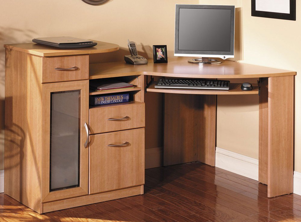 Small Corner Computer Desk With Drawers