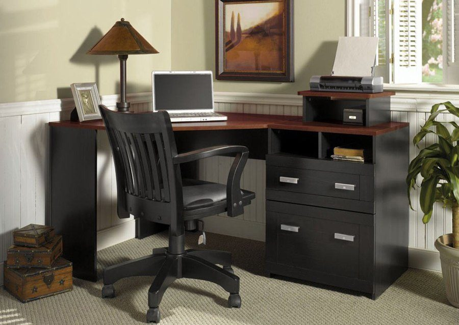 Wooden Corner Office Desk