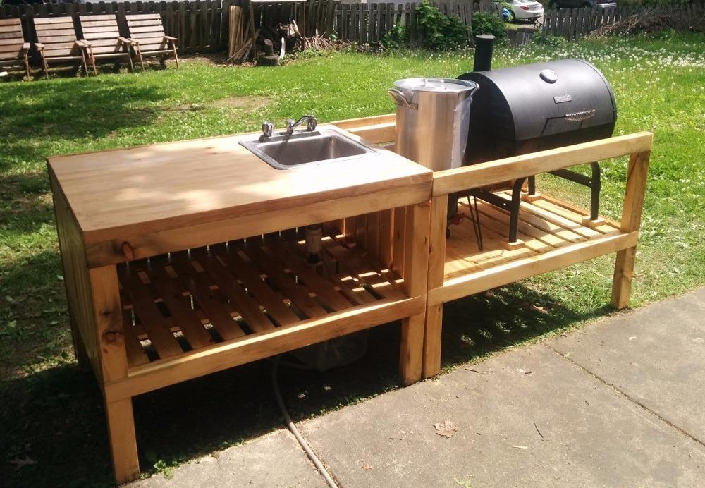 Pallet Outdoor Kitchen Plans