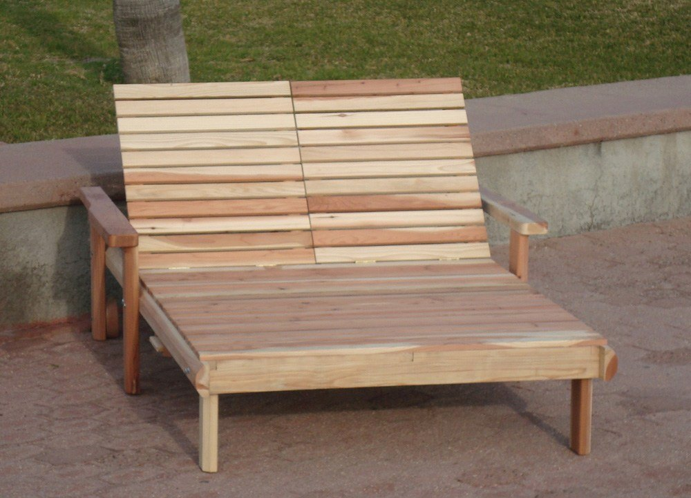 If you have a sunny balcony, you definitely need wood double chaise lounge chairs that are available on the market of wood furniture.