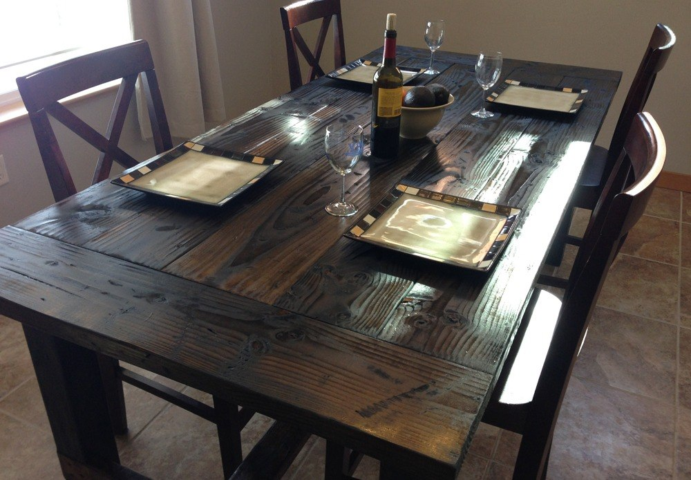 Black Rustic Dining Table