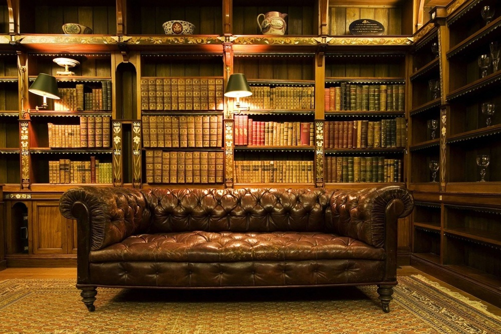 Classic Wood Library Seating Furniture