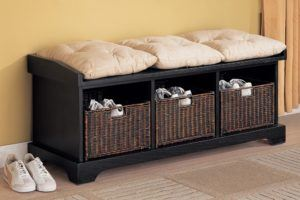 Comfortable Storage Bench With Baskets