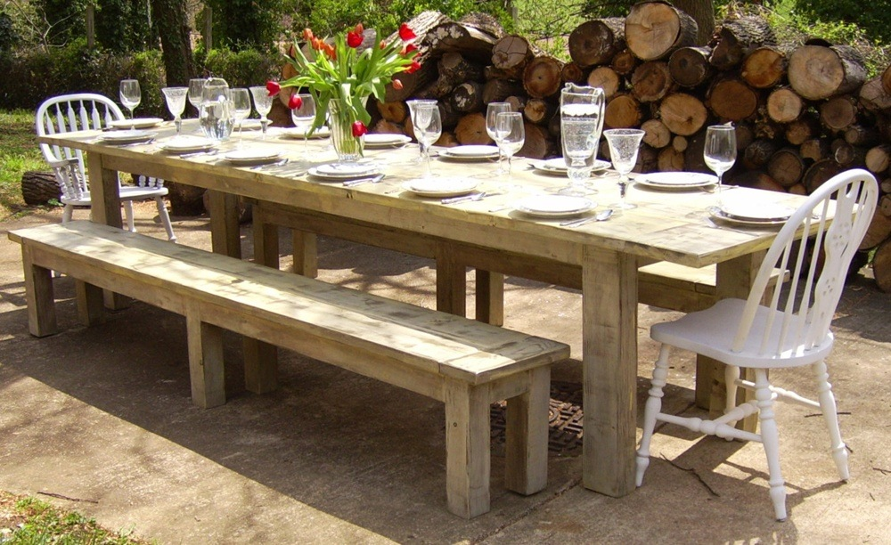 Good rustic outdoor dining table is the most important part of any home.