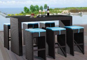 Modern Stylish Outdoor Black Bar Stools