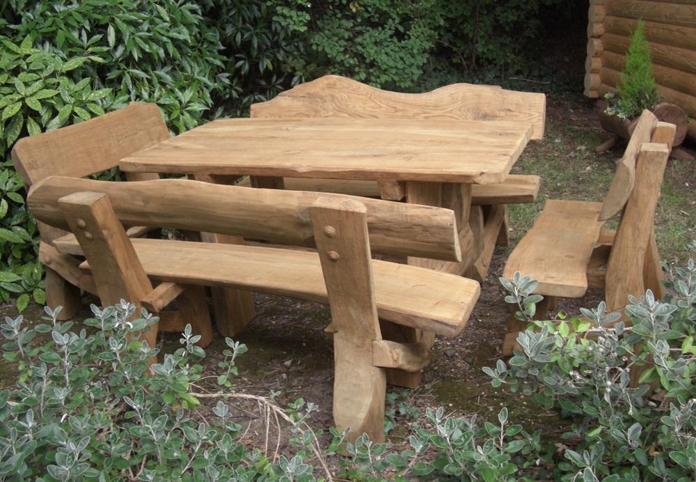Natural Rustic Outdoor Furniture Set