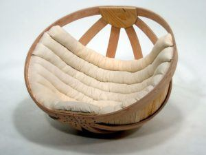 Papasan Style Wooden Chair