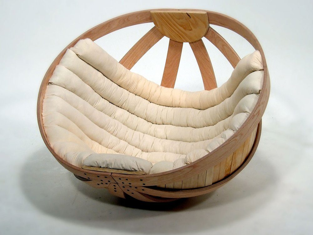 Wooden Papasan Chair