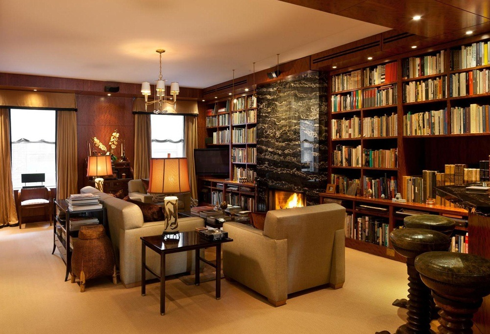 Penthouse Home Library Furniture Design
