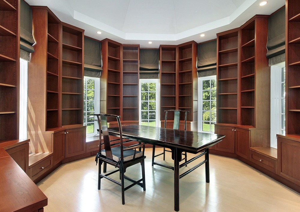 Solid Wood Library Bookcases