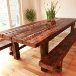 11 Outstanding Solid Wood Farm Table Ideas for Country Kitchen