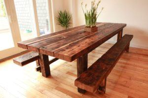 Solid Handmade Dining Table Set