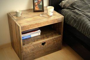 Solid Oak Pallet Nightstand