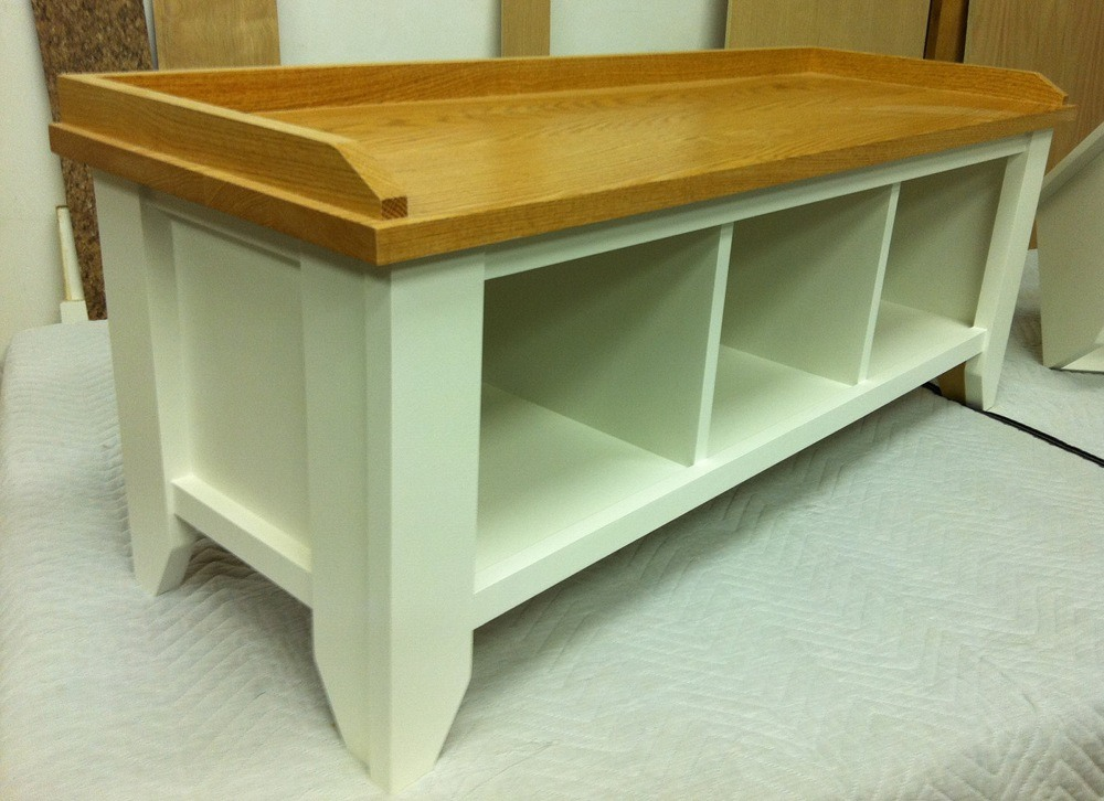 Solid Wood Entryway Bench With Shoe Storage