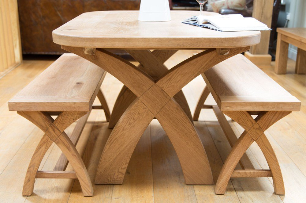 Teak Dining Table With Benches