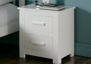 White Solid Wood Nightstand