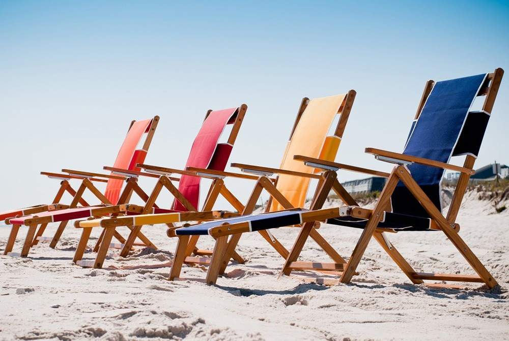 Classic Wooden Beach Chairs