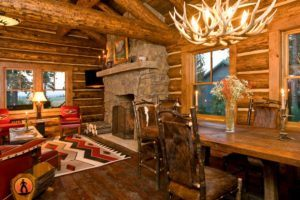 Wood Cabin Living Room Furniture