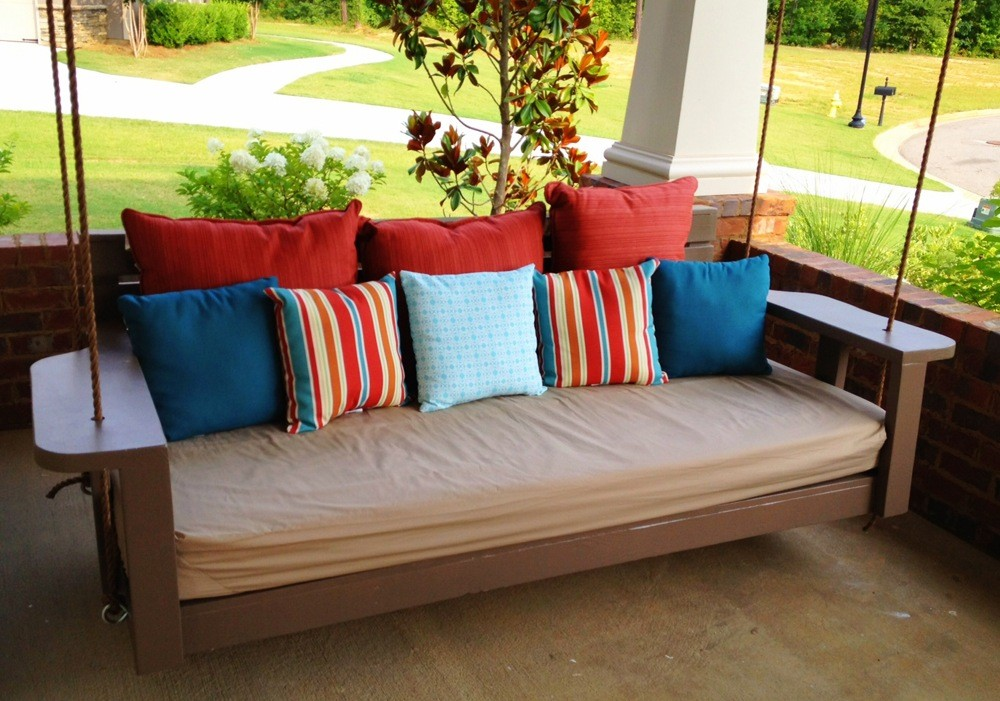 Brown Wood Daybed