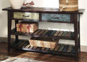 Natural Wooden Sofa Table
