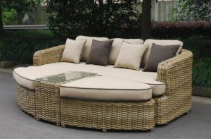 Rattan Daybed Sofa Set