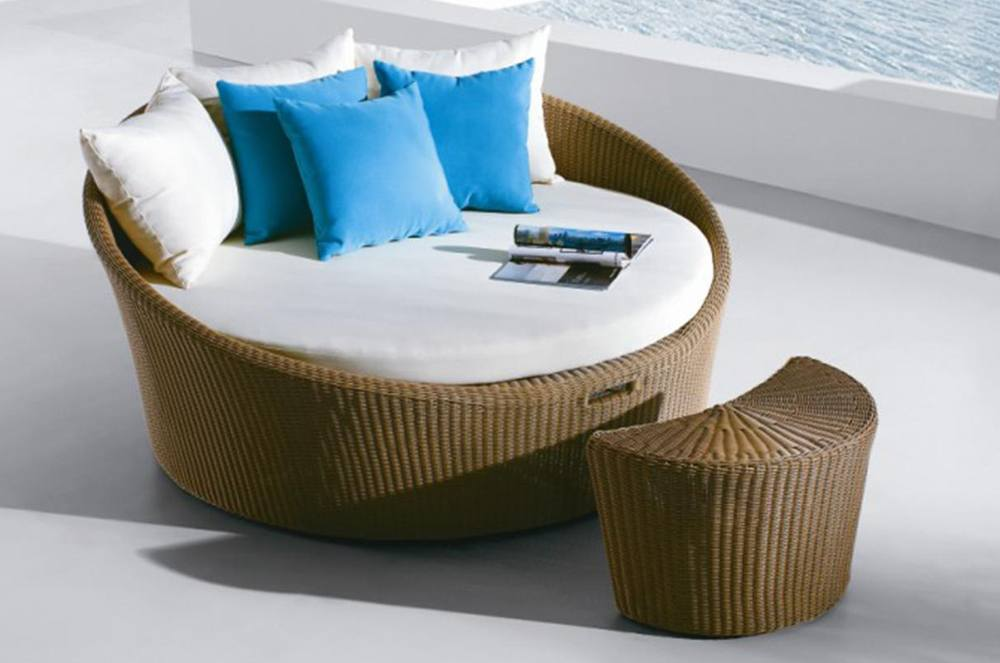 Round Rattan Daybed