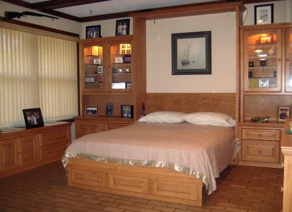 Wood Murphy Bed Queen