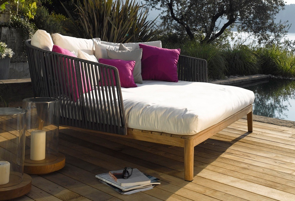 Wood Outdoor Daybed - TheBestWoodFurniture.com on Belham Living Lilianna Outdoor Daybed id=48893