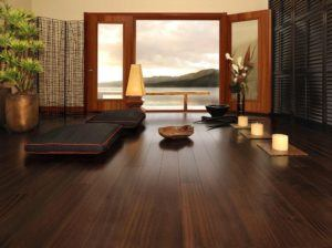 Bedroom With Dark Wood Floor