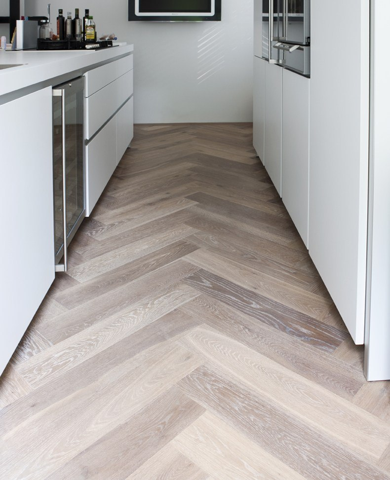 Solid Wood Floor in Kitchen