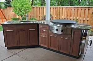 Modular Outdoor Wood Kitchen Units