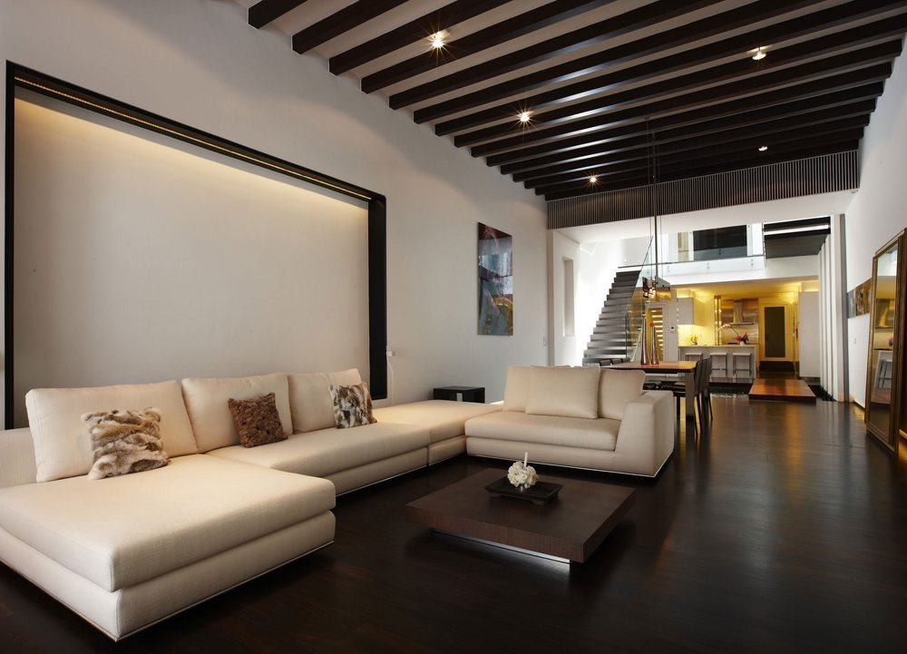 Brown floor living room is hard to maintain, but there is an easy way to make this burden easier.