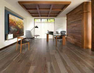 Office Room With Engineered Wood Oak Floor