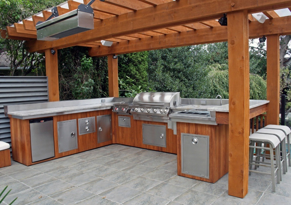 Outdoor Wood Kitchen Ideas