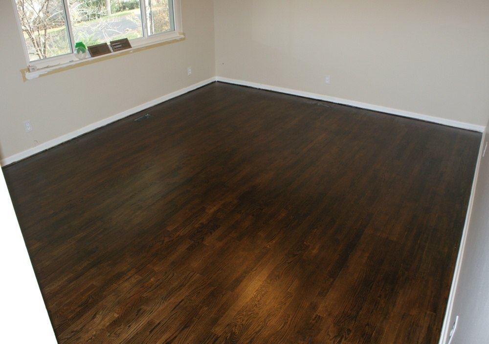 Refinished Hardwood Floor With Most Durable Paint
