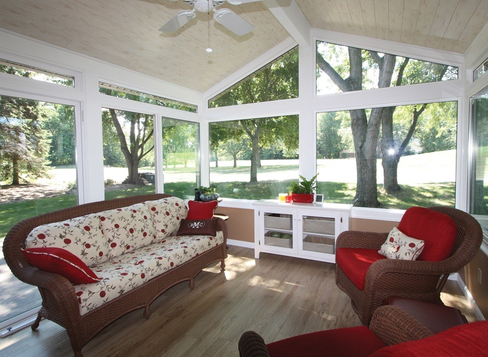Simple Sunroom Room With Wicker Sunroom Furniture Set