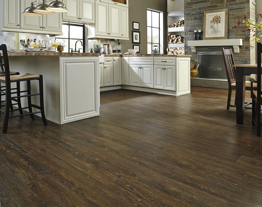 Vinyl Wood Pallet Floor In Kitchen
