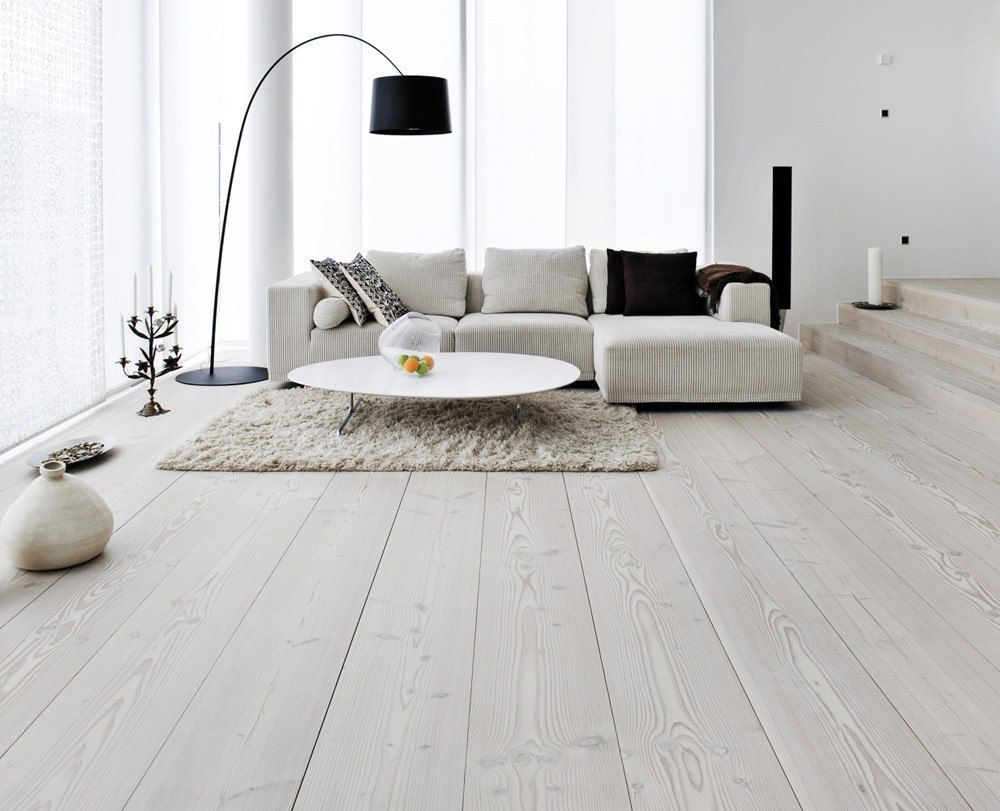 White Solid Wood Flooring