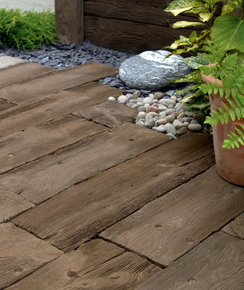 Wood Grain Concrete Pavers Thebestwoodfurniture Com