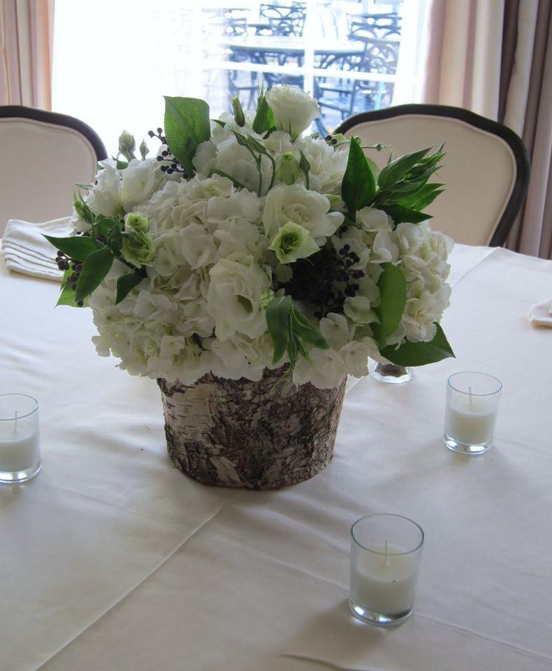 Birch Bark Vase For Dining Room