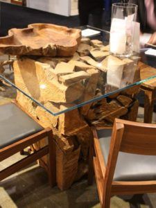Erosion Teak Dining Table