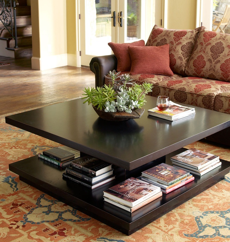 Dark Coffee Table Decor